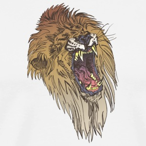 angry_lion_face - Men's Premium T-Shirt
