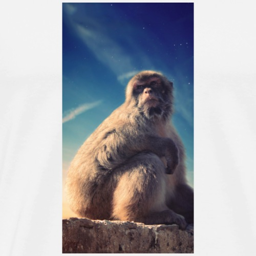 Majestic monkey phone case - Men's Premium T-Shirt