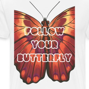 Follow your butterfly - Men's Premium T-Shirt