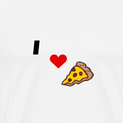 I love pizza - Men's Premium T-Shirt