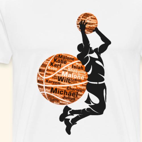 Star of Basketball - Men's Premium T-Shirt