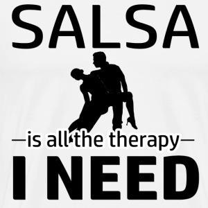 Salsa is my therapy - Men's Premium T-Shirt