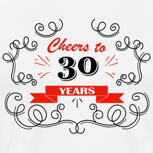 Cheers to 30 years - Men's Premium T-Shirt