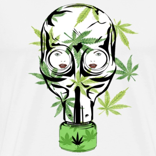 Cannabis stoner Gas mask - Men's Premium T-Shirt