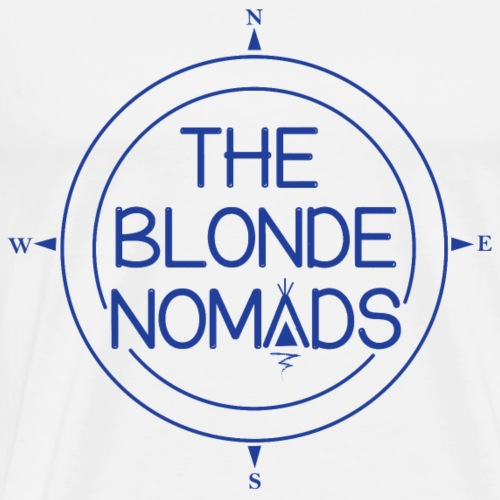 The Blonde Nomads Blue Logo - Men's Premium T-Shirt