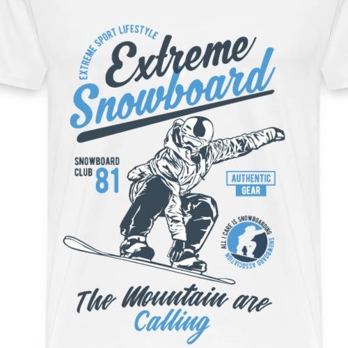 Extreme Snowboard - Men's Premium T-Shirt