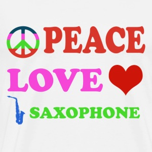 Peace love Saxophone - Men's Premium T-Shirt