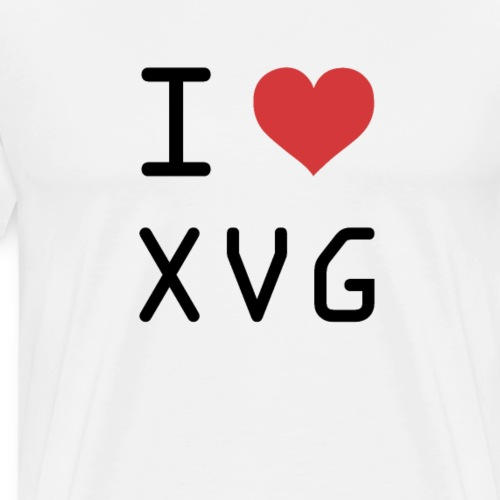 I HEART XVG (Verge) - Men's Premium T-Shirt