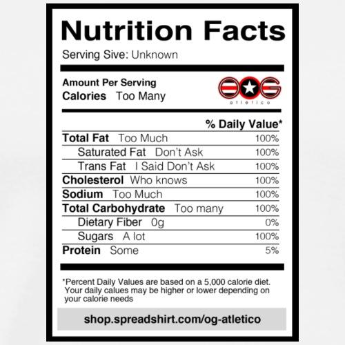 Nutrition Facts - Men's Premium T-Shirt