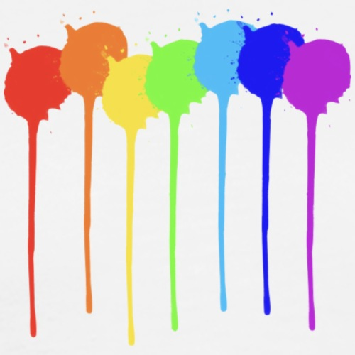 Dripping Pride Rainbow - Men's Premium T-Shirt
