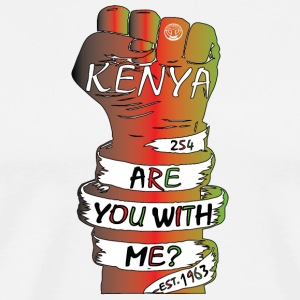 Kenya Are You With Me Movement T-Shirt - Men's Premium T-Shirt