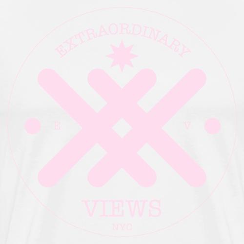 EX Views Logo Pink - Men's Premium T-Shirt