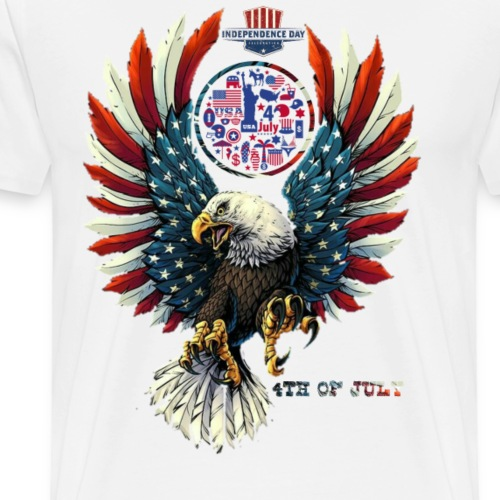 4th of july independence day - Men's Premium T-Shirt