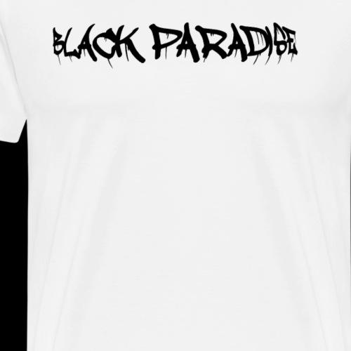 Black Paradise Plain Logo - Men's Premium T-Shirt