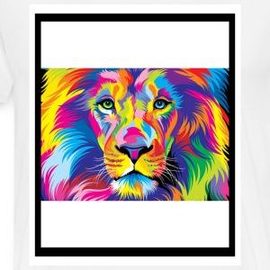 Colorful Lion - Men's Premium T-Shirt