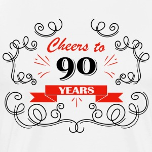 Cheers to 90 years - Men's Premium T-Shirt