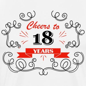 Cheers to 18 years - Men's Premium T-Shirt
