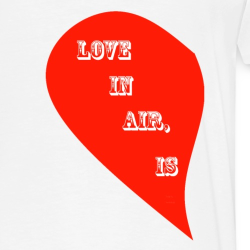 LOVE IS IN THE AIR - 9 LEFT SIDE - Men's Premium T-Shirt