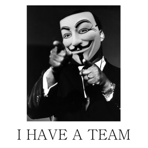 I Have A Team - MLK goes Anonymous - Men's Premium T-Shirt