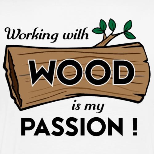 Passion-Design Wood | BP kefjed - Men's Premium T-Shirt