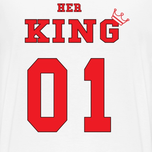 Her KING' Red - Men's Premium T-Shirt