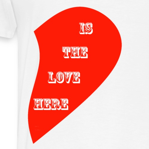 LOVE IS IN THE AIR - 9 RIGHT SIDE - Men's Premium T-Shirt