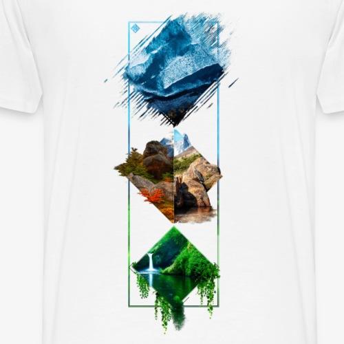 Elemental back - Men's Premium T-Shirt