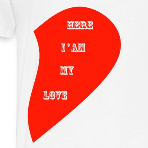 LOVE IS IN THE AIR - 10 RIGHT SIDE - Men's Premium T-Shirt