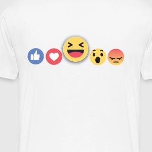 Facebook reaction Tees - Men's Premium T-Shirt