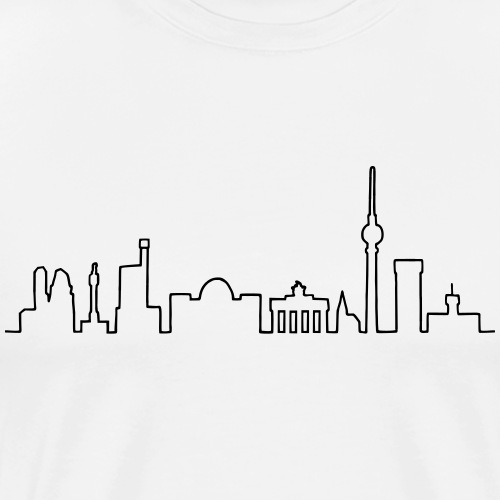 Skyline of Berlin - Men's Premium T-Shirt