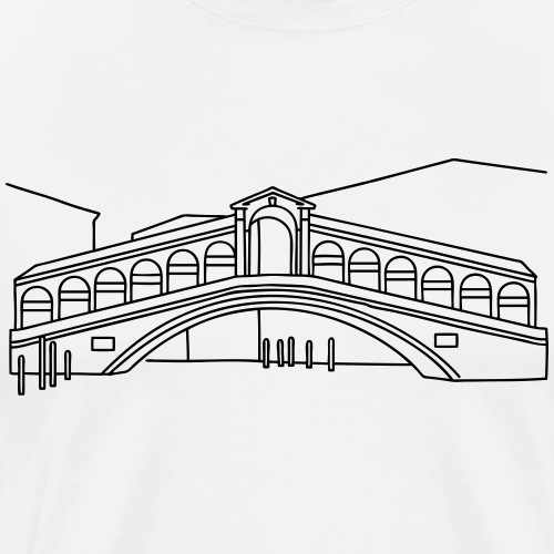 Rialto Bridge Venice - Men's Premium T-Shirt