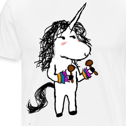 Kaede The unicorn dancing - Men's Premium T-Shirt