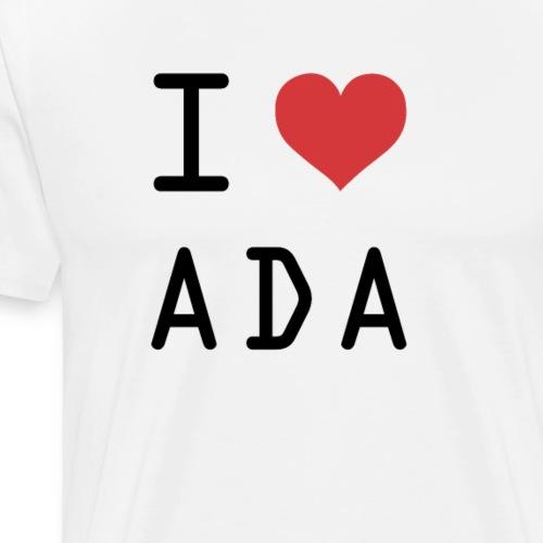 I HEART ADA (Cardano) - Men's Premium T-Shirt