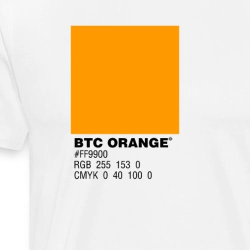 BTC Orange (Bitcoin Tshirt) - Men's Premium T-Shirt