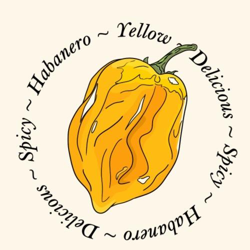 Habanero Yellow Chili Pepper Spicy - Men's Premium T-Shirt