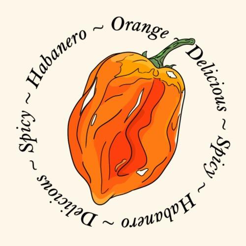 Habanero Orange Chili Pepper Spicy - Men's Premium T-Shirt