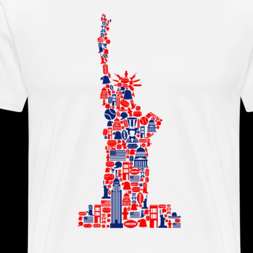 Statue of Liberty | American Icons - Men's Premium T-Shirt