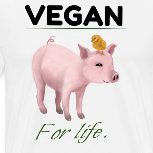Vegan for life - Men's Premium T-Shirt
