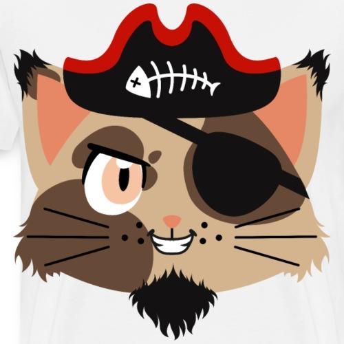 Wild Cat with Black Beard Pirate of the Golden Age - Men's Premium T-Shirt