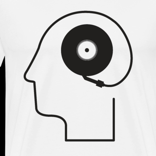 Mind Plugged into Music - Men's Premium T-Shirt