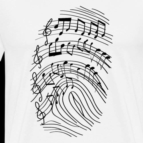 Musican's Fingerprint | Music DNA - Men's Premium T-Shirt