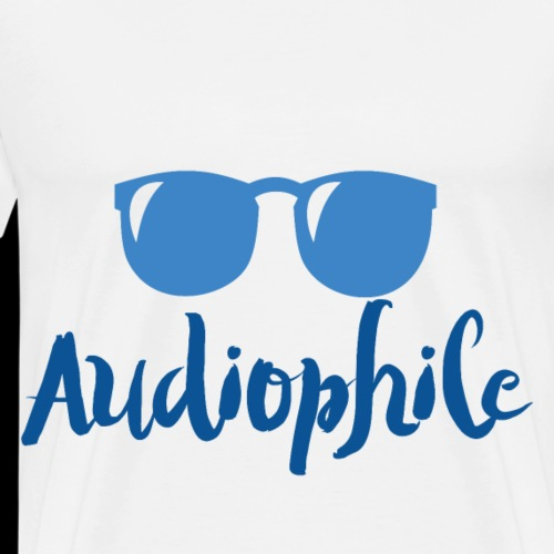 Audiophile Retro Sunglasses - Men's Premium T-Shirt