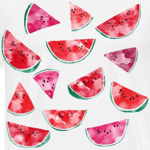 Watermelons Watercolor - Men's Premium T-Shirt