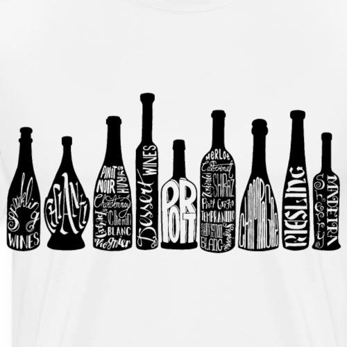 Wine Bottles- Black - Men's Premium T-Shirt