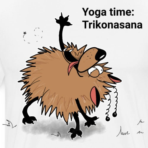 Yoga time With Aunty Awoof. Today is Trikonasana - Men's Premium T-Shirt