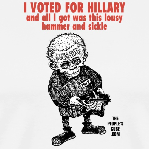 I Voted for Hillary - and all I got was this lousy - Men's Premium T-Shirt