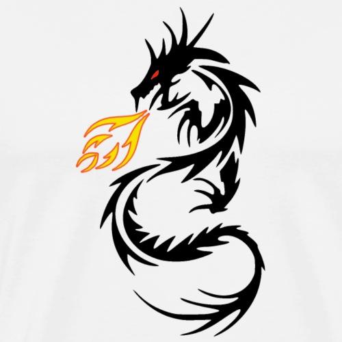 Dragon Flames - Men's Premium T-Shirt