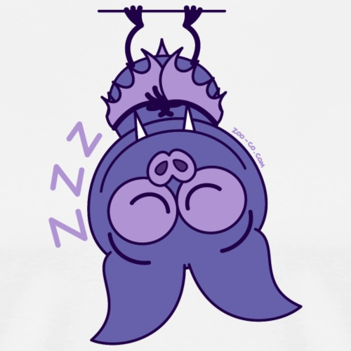 Purple bat sleeping upside down - Men's Premium T-Shirt