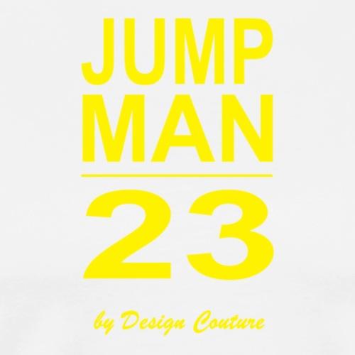 JUMP MAN 23 YELLOW - Men's Premium T-Shirt
