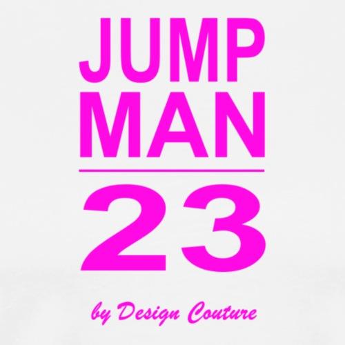 JUMP MAN 23 PINK - Men's Premium T-Shirt